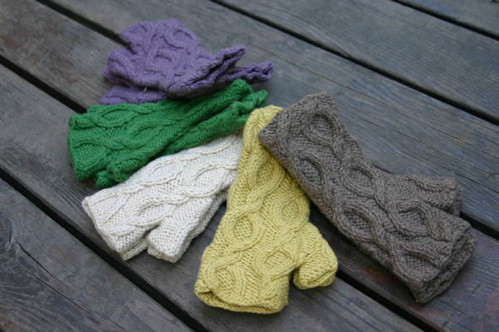 Shokay handwarmers, made from premium yak down